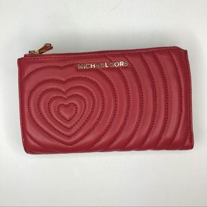 Michael Kors Jet Set Double Zip Wallet NWT